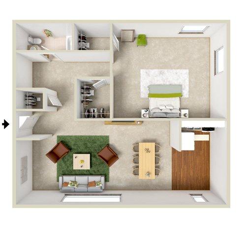 1 and 2 Bedroom Floor Plans Glenora Gardens Rochester NY