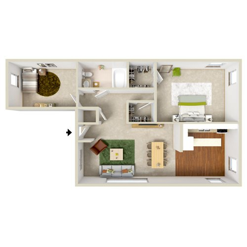 g0elnora gardens two bedroom floor plan